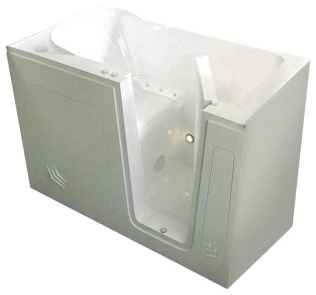 Meditub Walk-In 30 X 54 Right Drain White Air Jetted Walk-In Bathtub.