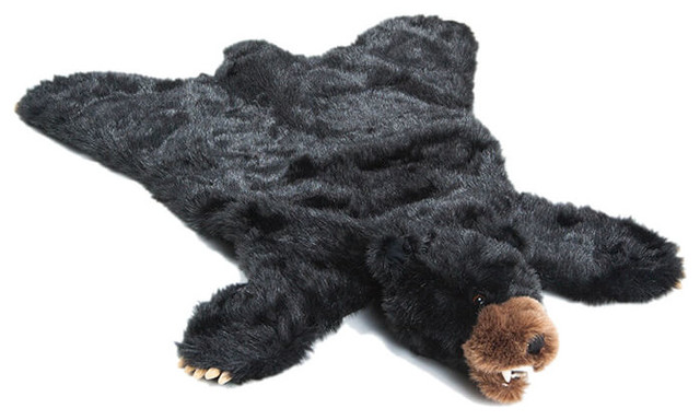 Large Black Bear Rug