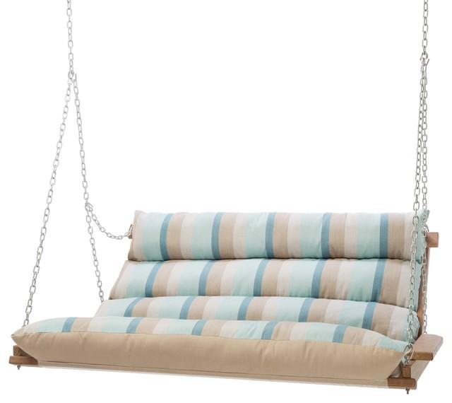 Hatteras Hammocks Sunbrella Deluxe Cushion Swing Contemporary
