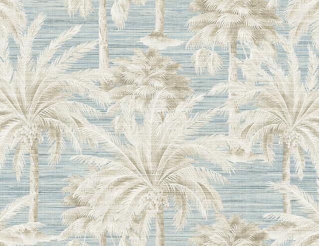 Dream Of Palm Trees Blue Texture Wallpaper Tropical Wallpaper