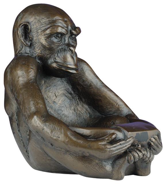 Large Sitting Monkey Bowl Traditional Decorative  : traditional decorative objects and figurines from www.houzz.com size 578 x 640 jpeg 93kB