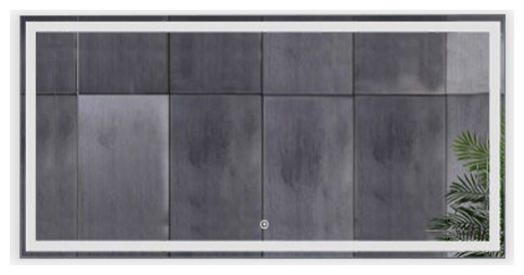 """Radiant Dimmable LED Mirror with Defogger, 60""""x36""""x1.75"""""""