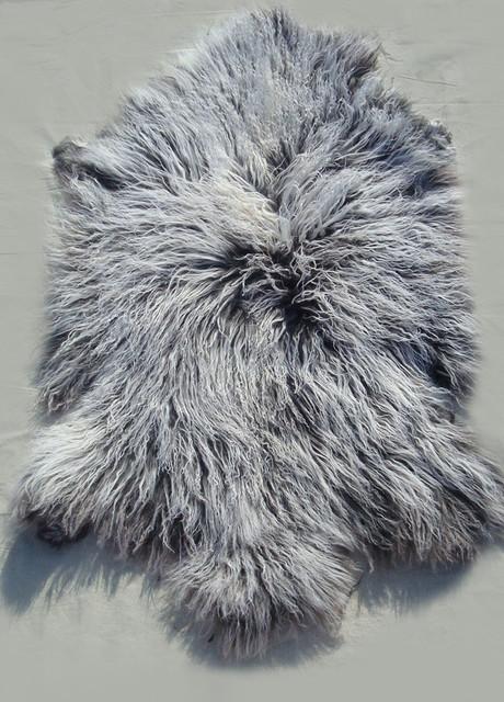 Tibetan / Mongolian Lamb Fur Pelt / Rug