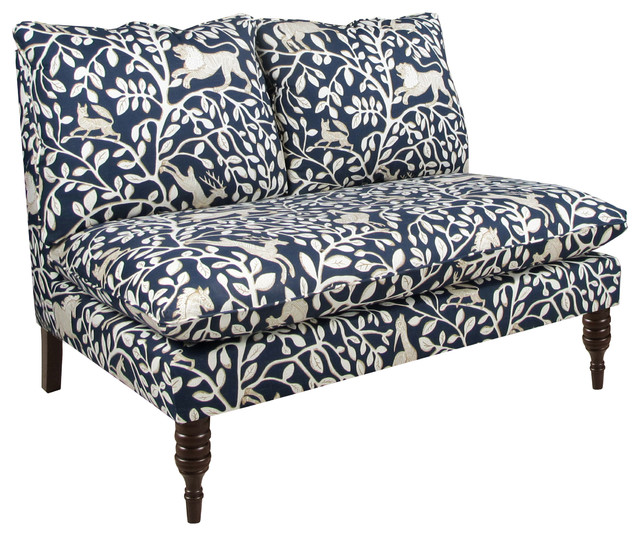 Armless Settee Bench Part - 23: Pantheon Admiral Armless Loveseat Transitional-loveseats
