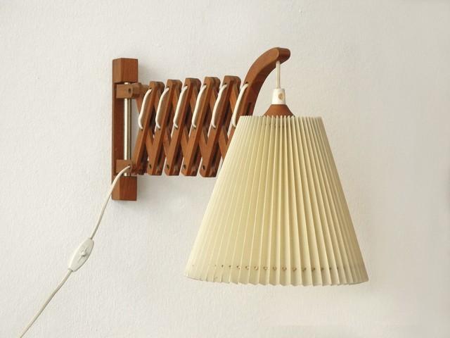 vintage teak scherenlampe 1960er minimalistisch schwenkarm wandleuchten von pamono gmbh. Black Bedroom Furniture Sets. Home Design Ideas