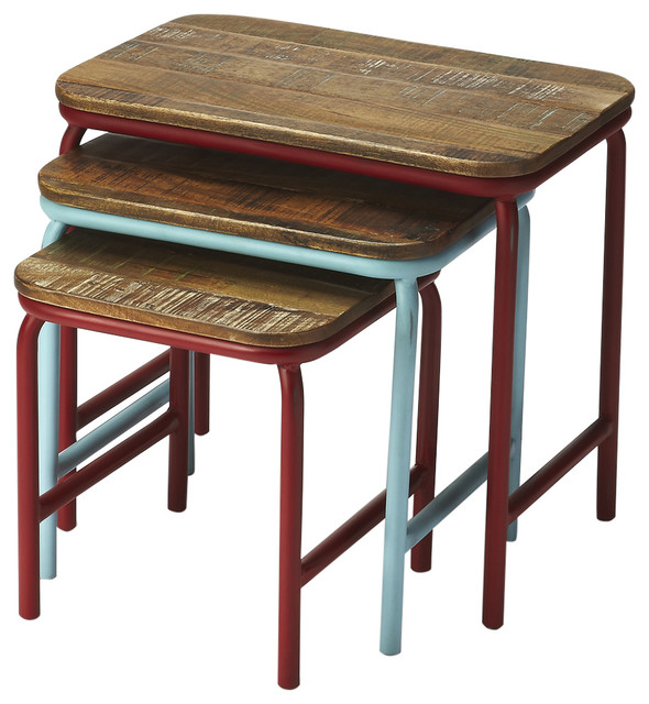 Industrial Chic Nesting Tables Coffee Table