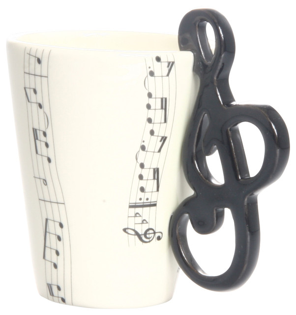 Treble Clef 3d Ceramic Mug Eclectic Mugs By Blue