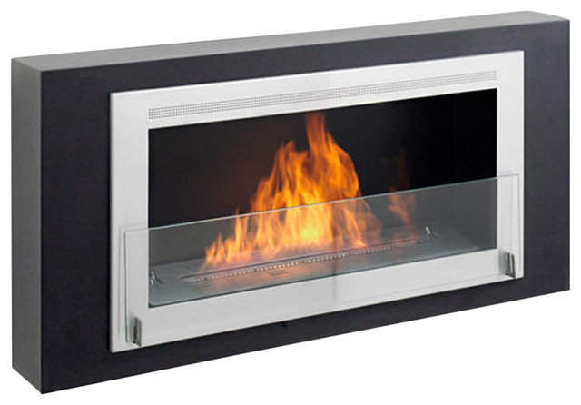 Eco Feu Montreal Wall Mount Fireplace Contemporary Indoor Fireplaces By Ethanol Fireplace Pros