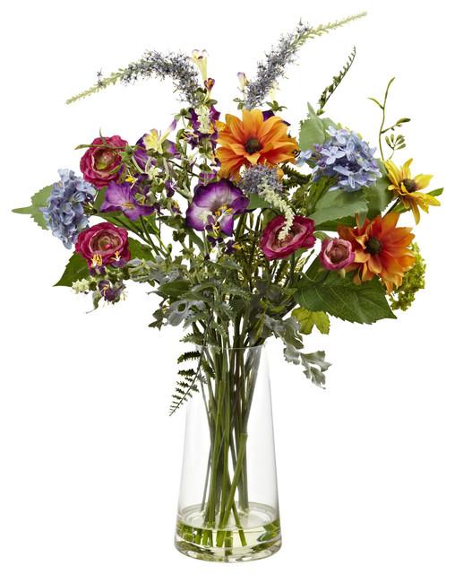 Spring Garden Floral With Vase