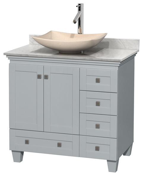 36 bathroom vanity oyster gray contemporary bathroom - Contemporary bathroom vanities without tops ...