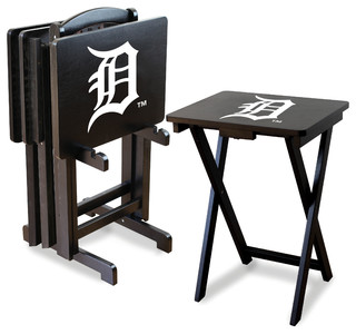 Detroit Tigers TV Trays With Stand, Set of 4