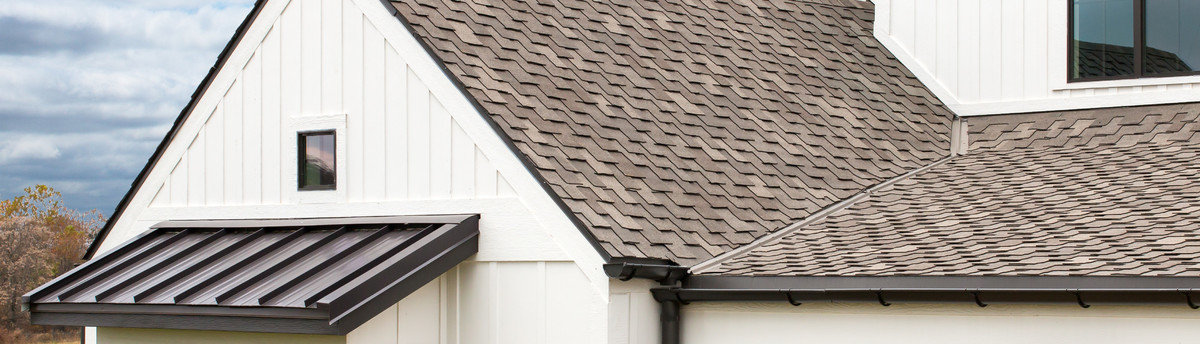 Shingle Roof With Metal And Copper Accent