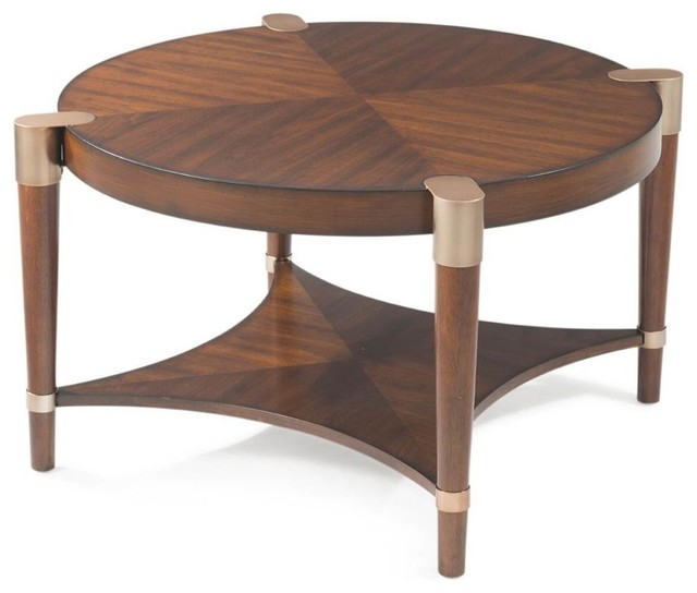 Shop Houzz Bassett Mirror Co Cole Round Cocktail Table Coffee Tables