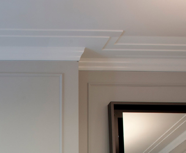 Charming Crown Molding Detail Closeup   Reveal Transitional