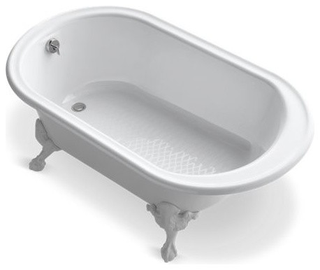 "Kohler Iron Works Historic 66"" X 36"" Freestanding Oval Bath, White"
