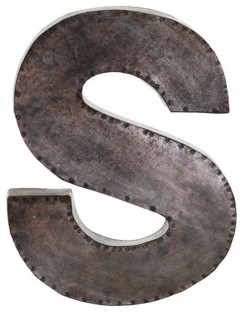 "Metal Alphabet Letters For Wall Mesmerizing Urban Trends Collection  Metal Alphabet Wall Decor Letter ""s Inspiration"