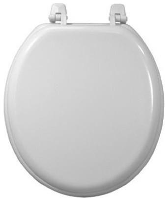 Sunstone International 200 Wht Rd Wood Composition Toilet Seat White