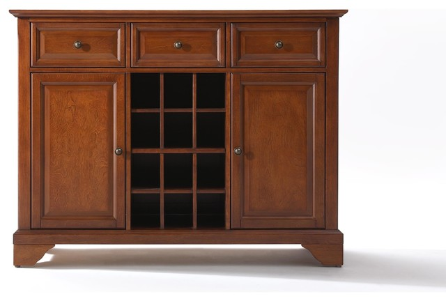 Crosley LaFayette Buffet Server / Sideboard Cabinet With Wine Storage - Buffets And Sideboards ...