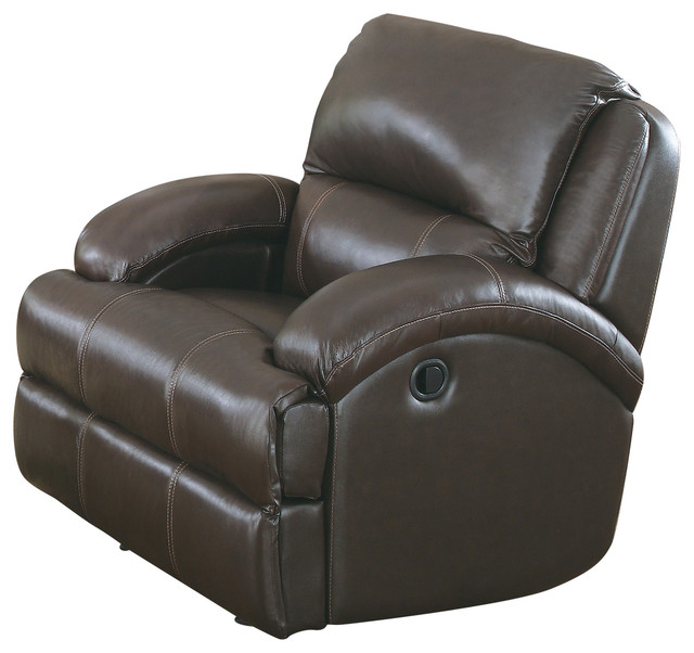 Capri Brown Reclining Glider Outdoor Gliders by Myco