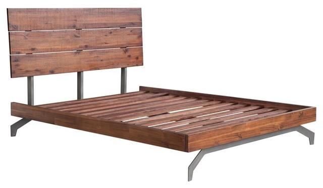 Perth Queen Bed, Chestnut.