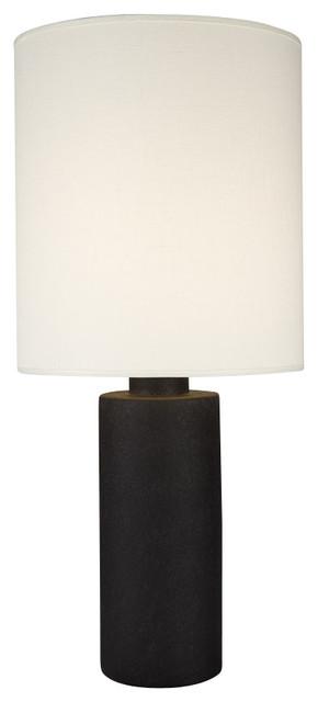 Circa Table Lamp In Cast Iron Ceramic Finish With Burnish Chintz Shade  Modern Table