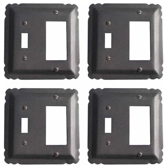 4 Switchplate Black Wrought Iron Gfi Toggle 5 1 4
