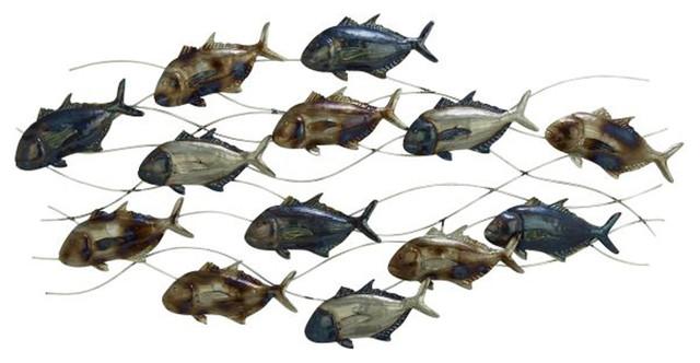 Metal Fish Wall Decor amazing metal fish wall decor - beach style - metal wall art -