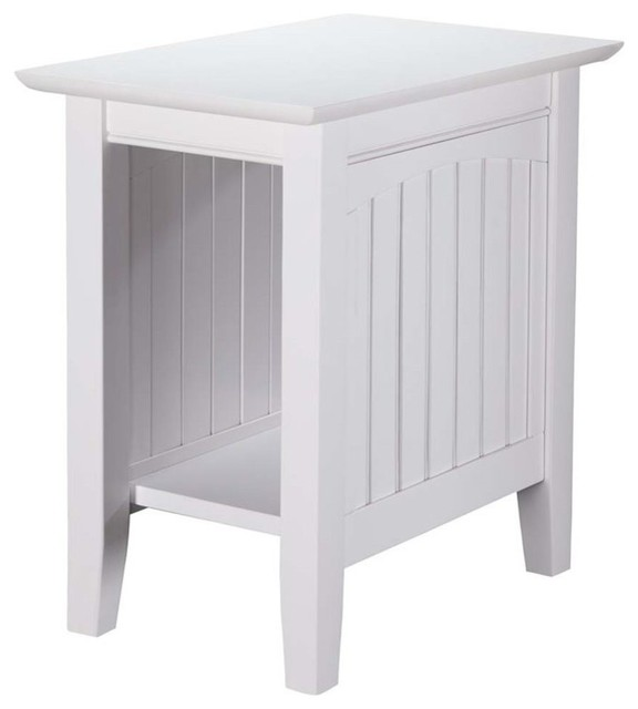 Pemberly Row Chair Side Table, White