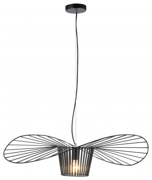 Single Pendant Black Iron Wire Hat