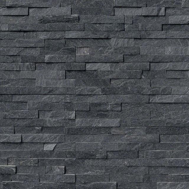 "Coal Canyon Quartzite Stacked Stone Splitface Panels, 6""x24"" Panel, 10 Sq. Ft.."