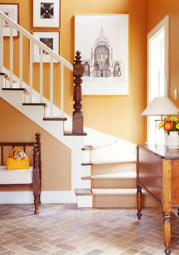 Heathers Foyer Ideabook eclectic entry