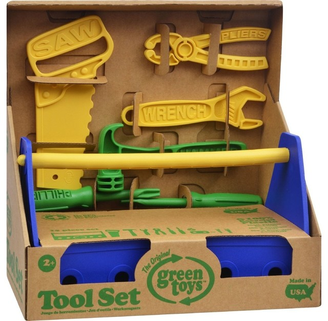 Green Toys Tool Set Blue Contemporary Kids Toys And