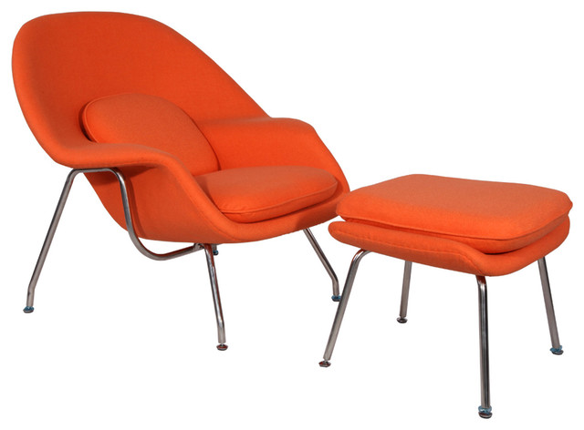 Orange chaise lounge indoor arrival chaise in espresso for Burnt orange chaise lounge