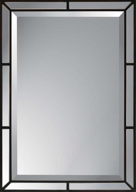 Espresso Modern Mirror.