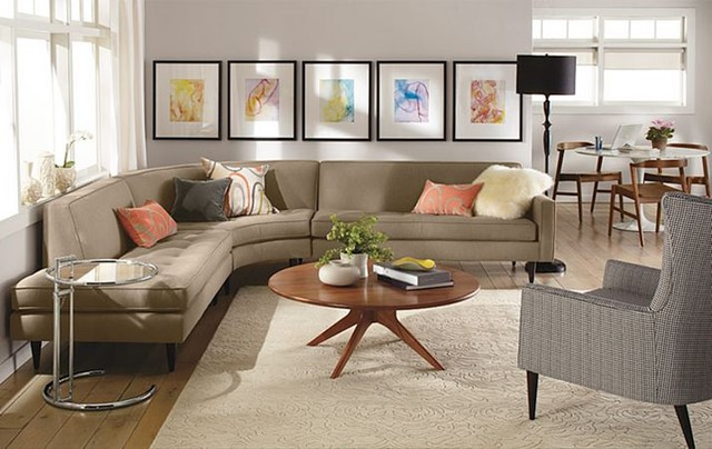 Reese Curved Sectional Room by Ru0026B modern-living-room : room and board sectional - Sectionals, Sofas & Couches