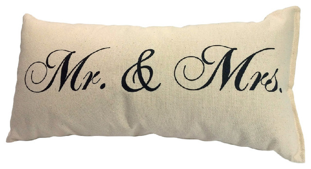 Mr And Mrs Pillow 40% Natural Canvas 40x40 Farmhouse Gorgeous Mr And Mrs Decorative Pillows