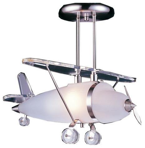 elk lighting novelty prop plane semi flush ceiling light x 1 1505 contemporary kids ceiling. Black Bedroom Furniture Sets. Home Design Ideas