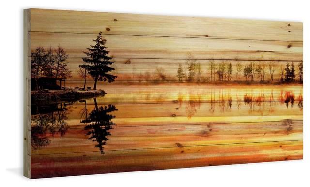 """chanannes"" Print On Wood, 45""x22.5""."