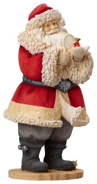 Enesco Heart Of Christmas Santa With Mouse Figurine - Traditional ...
