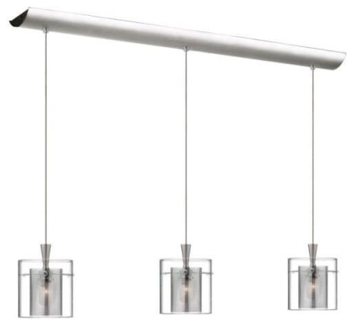 Dainolite Dlsl309-34l-Cm-Sc Dinette 3 Light Multi Light Pendant, Satin Chrome.