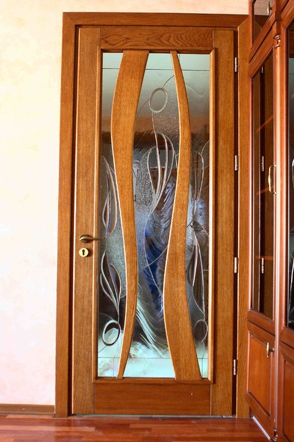 Doors With Tiffany Style Stained Glass Inserts Interior Doors