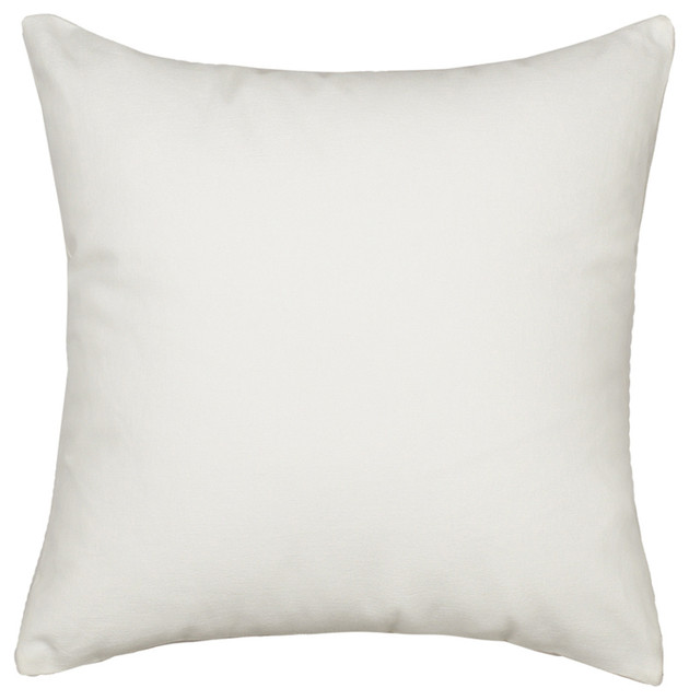 Solid White Accent Throw Pillow Cover Heavy Weight Fabric Contemporary Decorative Pillows By Silver Fern Decor