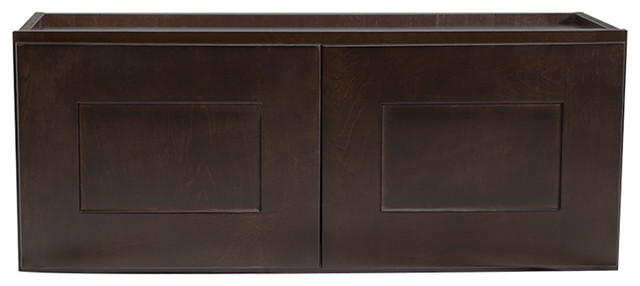 Brookings 33 Fully Assembled Kitchen Wall Cabinet, Espresso Shaker.