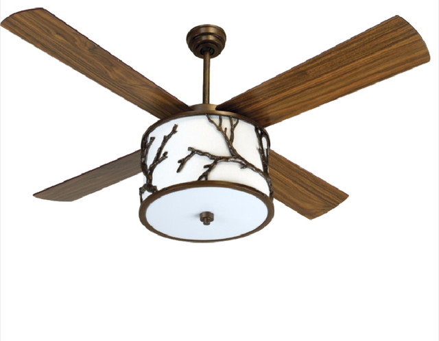 Rustic ceiling fans for your home houzz craftmade dark coffee 56 ceiling fan with light kit and remote aloadofball Gallery