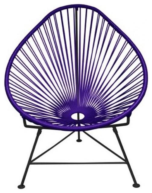 Acapulco Indoor / Outdoor Chairs in Purple - Acapulco Indoor / Outdoor Chairs In Purple - Eclectic - Armchairs
