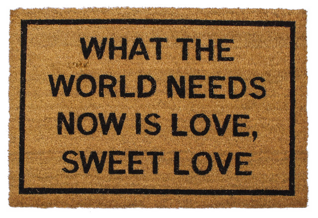 Clever doormats what the world needs now is love sweet love doormat contemporary doormats - Clever doormats ...
