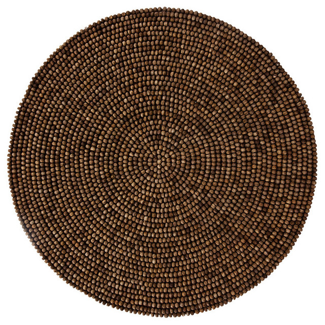 Wood Bead Placemats Brown Set Of 4 Placemats By