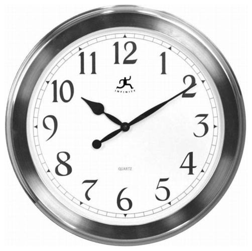 Faux Brushed Nickel Finish Wall Clock