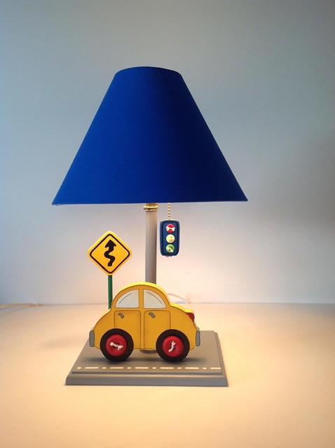 Cars table lamps for kids room kids lamps by under ten for Lighting for kids room