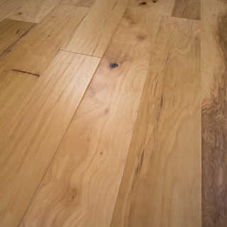 """Hickory Natural Hand Scraped Prefinished Engineered Wood Flooring 7 1/2""""x1/2"""" - Farmhouse ..."""